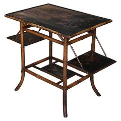 Large-Scale 19th Century Chinoiserie Bamboo Pastry Table