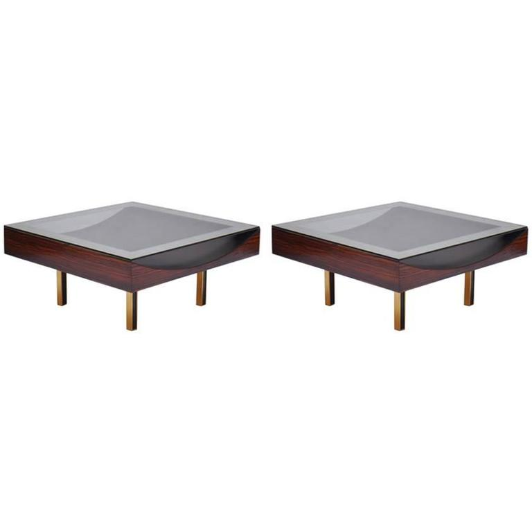 Modernist Pair of Coffee Tables by Joaquim Tenreiro, 1967 1