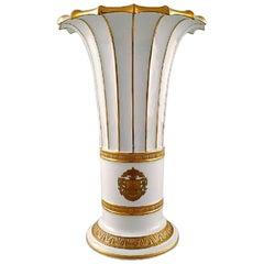 Royal Copenhagen Vase with Gold Decoration, Trumpet-Shaped