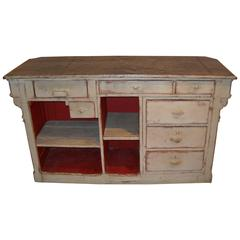 Zinc Top French Store Counter with Cash Drawer