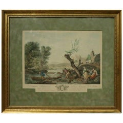 Antique French ''Domino Francisco'' Hand Colored Print by C. Vernet, circa 1870
