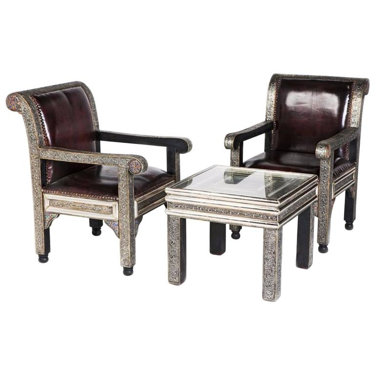 Idrisid Pair Of Chairs And Coffee Or Centre Table Living Room For Sale At 1stdibs