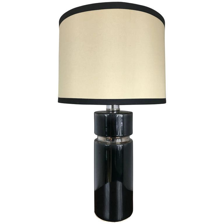 Glazed Ceramic Lamp in the Style of Pierre Cardin