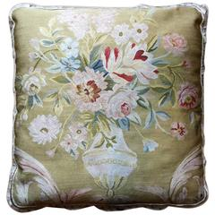 Decorative Pillows, Vintage Pure Silk French Style Aubusson Pillow Cushion