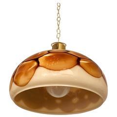 1970s Murano High Style Glass Pendant