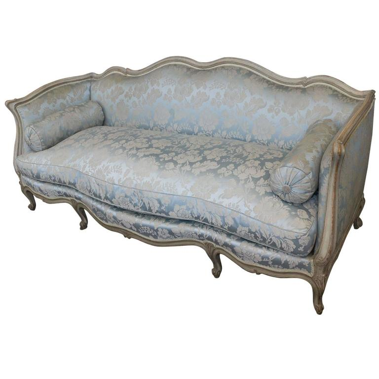 Merveilleux French Louis XV Style Sofa Attributed To Maison Jansen For Sale