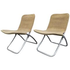 Pair of Folding Chairs in the Manner of Warren McArthur