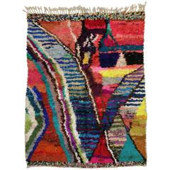 Modern Berber Moroccan Silk Rug with Contemporary Abstract Style