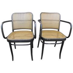 Pair of Bentwood Armchairs, Manner of Thonet