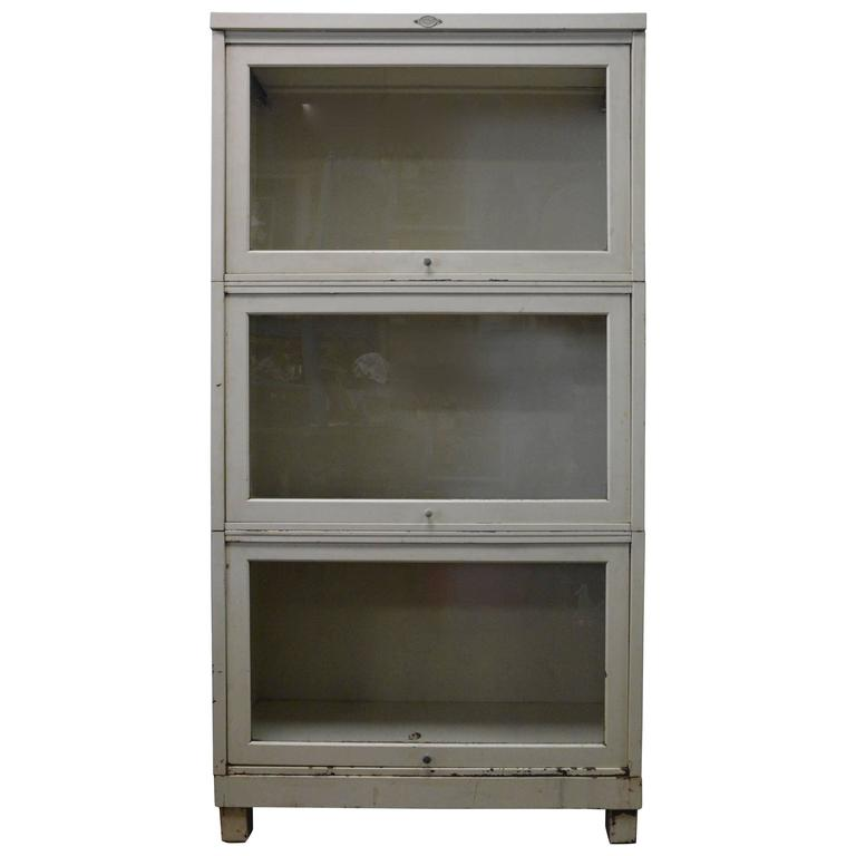 low priced 4fd69 75b0d Art Metal Co Mid-Century Modern Metal Stacking Barrister's Bookcase