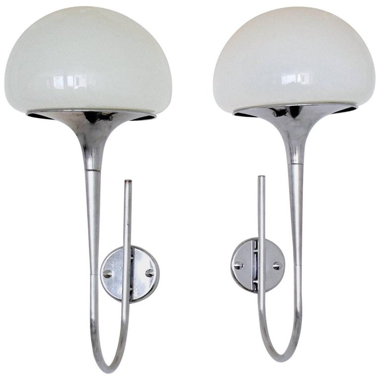Italian Vintage Chrome Wall Lights by Goffredo Reggiani, 1960's  For Sale