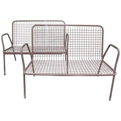 Two 20th Century Outdoor Benches, Made in Denmark