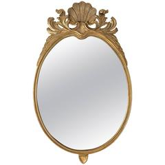 Shell Crest Gilt Mirror