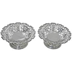 Pair of Large Silver Compote Dishes George Maudsley Jackson, London, 1905