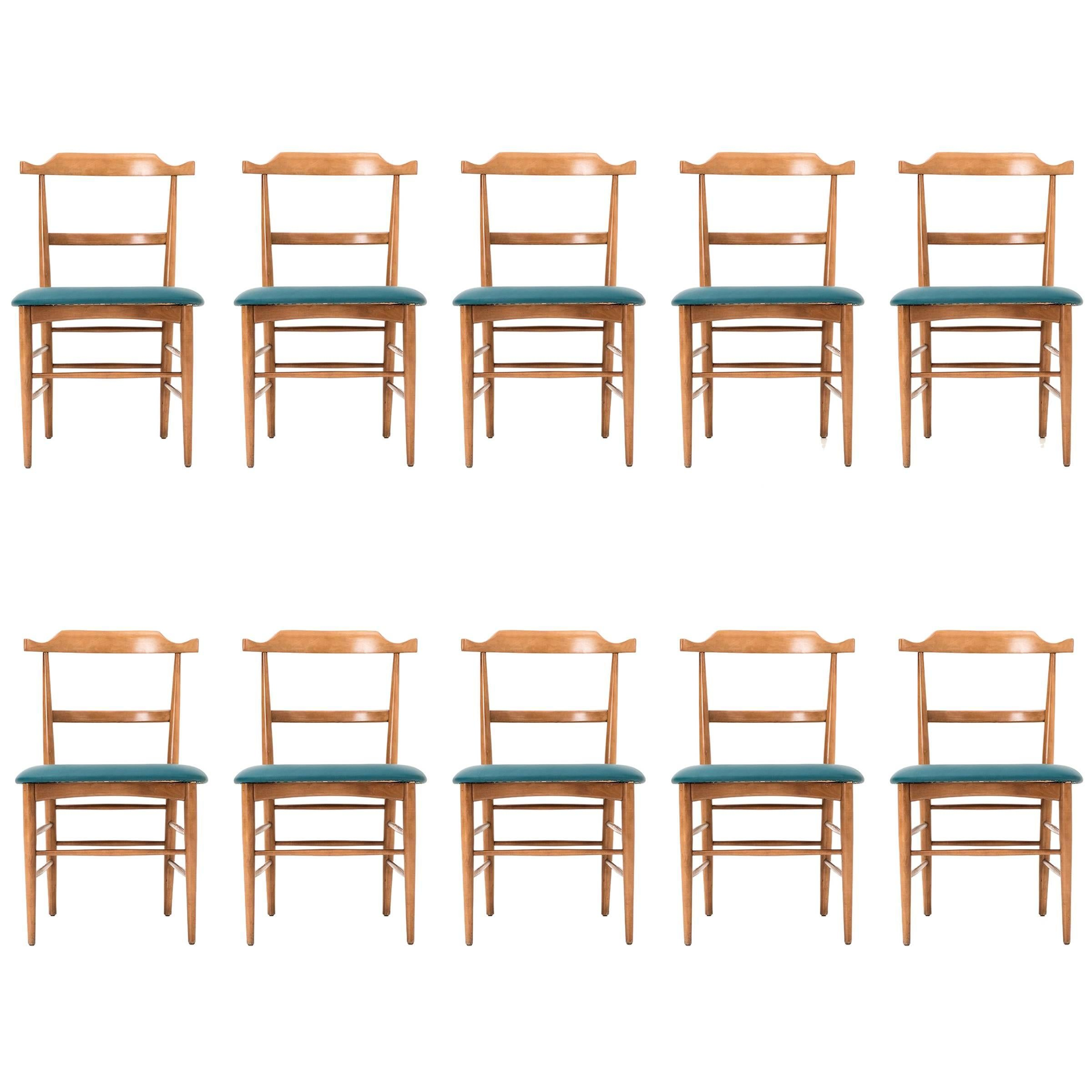 Set of Ten Milo Baughman Dining Chairs