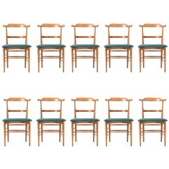 Set of Ten Milo Baughman Dining Chairs