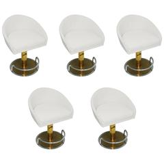Set of Five Swivel Stools