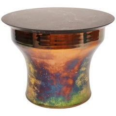 Karl Springer Rain Drum Table