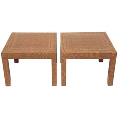 Karl Springer Batik-Covered Tables
