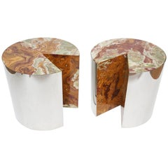 Leon Rosen for Pace Steel and Onyx Tables