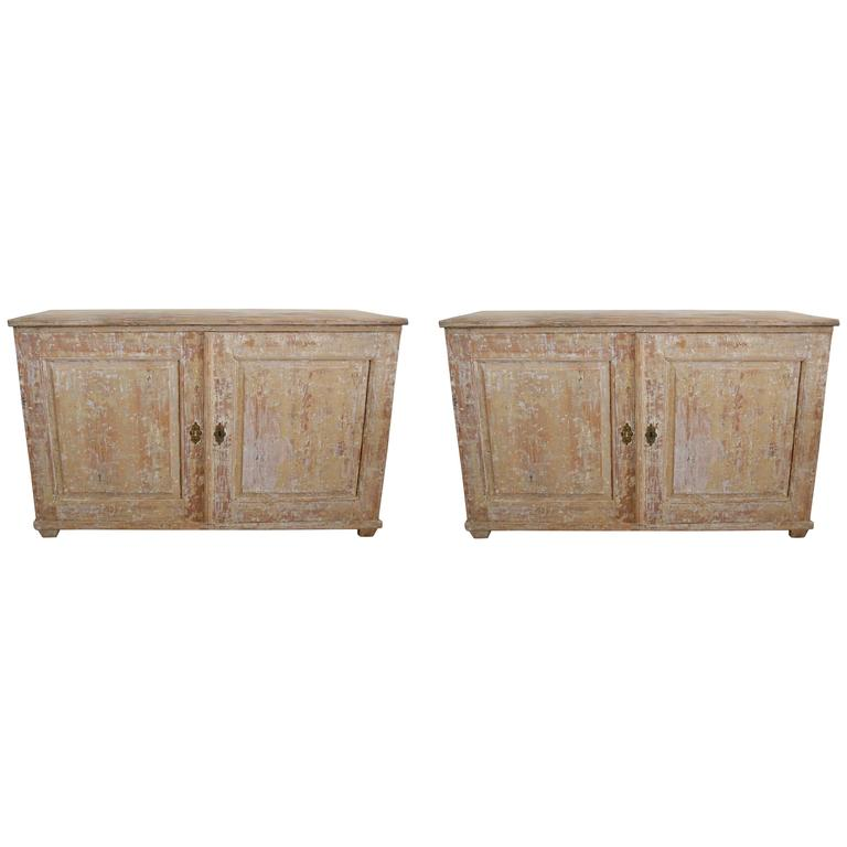Pair of 19th Century Swedish Sideboards 1