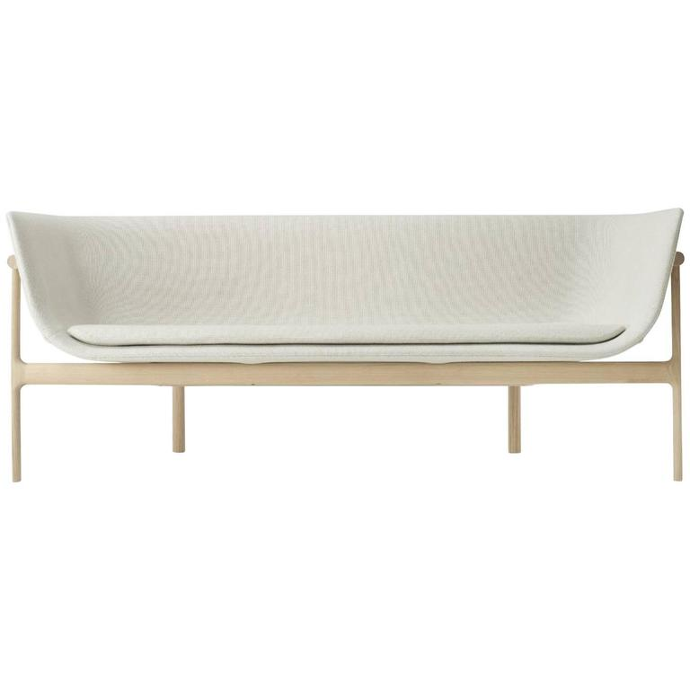 Tailor Lounge Sofa by Rui Alves in Natural Oak with Fabric or Leather Upholstery