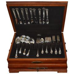 Towle Sterling Silver Flatware Set Chippendale Pattern 39 Pieces