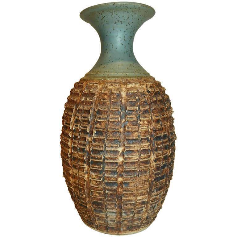 Important California Potter F. Carlton Ball Studio Ceramic Vase