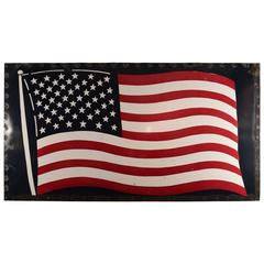 Huge Enamel American Flag