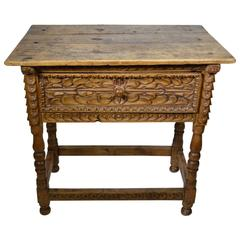 18th Century Spanish Colonial Side Table, Peru