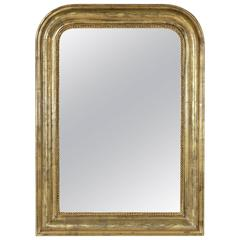 19th Century Louis Philippe Giltwood Mirror with Original Mercury Glass