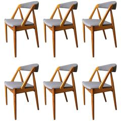 Six Kai Kristiansen Model 31 Danish Teak Dining Chairs