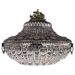 19th Century Ottoman Empire Silver Massive Jewellery Box, Turkey, circa 1890