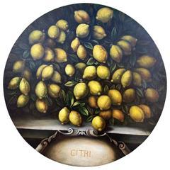 Renaissance Tuscan Oil Painting 'Lemons'