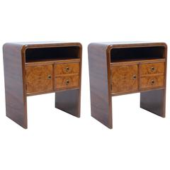 Pair of Art Deco Italian Nightstand or Side Table