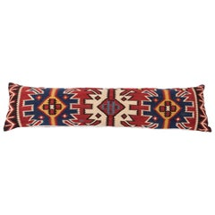 Antique Very Long Pillow Made Out of a 19th Century Caucasian Kilim