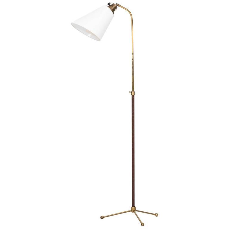 Hans Bergström Floor Lamp Model 545 by Ateljé Lyktan in Sweden For Sale