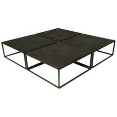 Castle-Sized, Mondriaan Inspired Square Low Table, by P.Tendercool