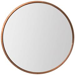 Round Mirror in Copper Produced by Glas Mäster in Sweden