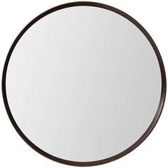 Large Round Mirror in Rosewood