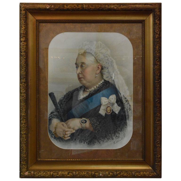 Souvenir Portrait Lithograph Of Her Most Gracious Majesty
