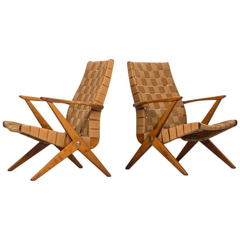 Bengt Ruda Easy Chairs by Nordiska Kompaniet in Sweden