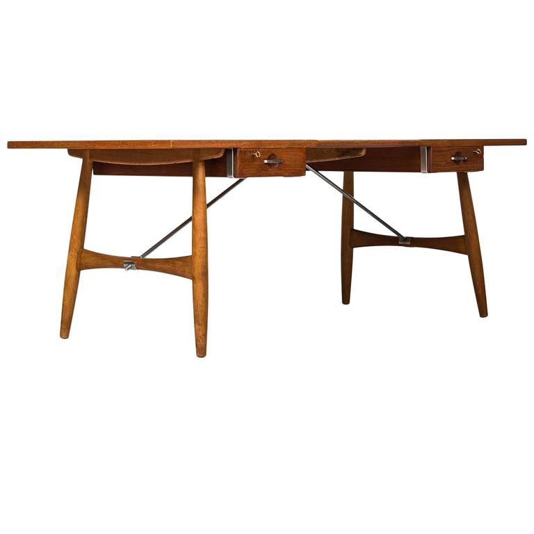 Hans Wegner Desk Model Jh 571 By Johannes Hansen In Denmark For