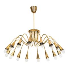 Large Ceiling Lamp in Brass