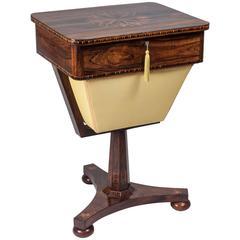 """Tunbridge Ware Work Table """"Royal Tunbridge Wells, circa 1850"""""""