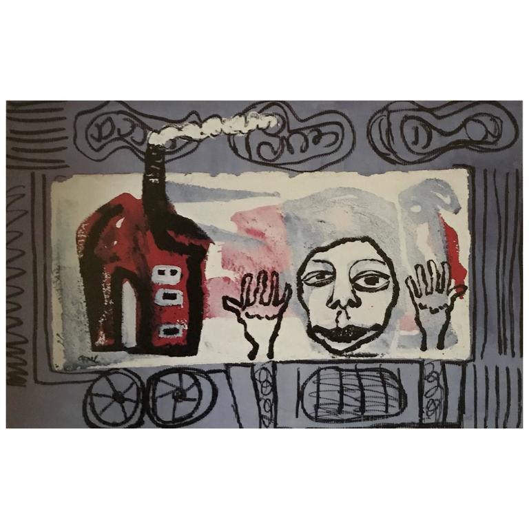"""Karel Appel Cobra """"Coming Home"""" For Sale"""