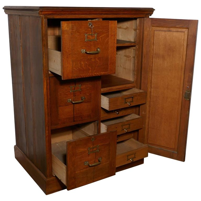 large file cabinet large edwardian oak filing cabinet office cupboard at 1stdibs 22476