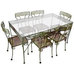 Seven-Piece Meadowcraft Greek Key Patio Set