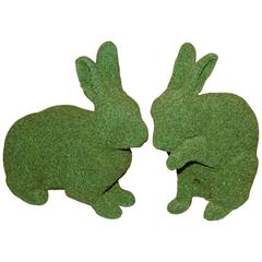 Garden Rabbit Sculpture in Synthetic Turf
