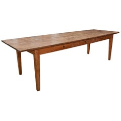 Antique American Country Harvest Table